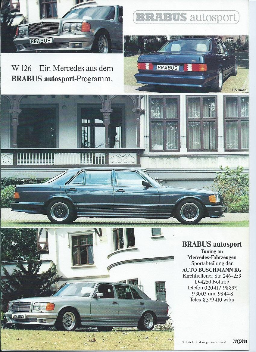 (W126): Catálogo BRABUS® C4878a10