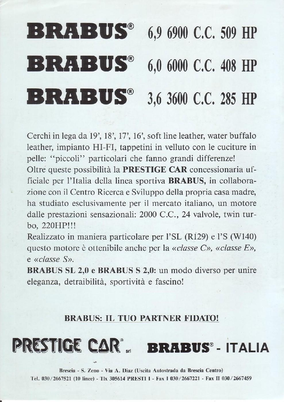 (W140): Versão BRABUS® 200SE para o mercado italiano  C8268b10