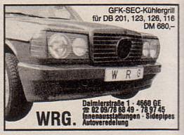 (W.R.G.): As conversões da empresa alemã  D39e0510