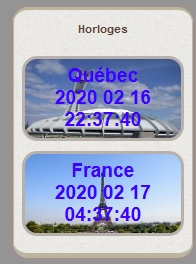 Horloge FRANCE et CANADA 2020-014