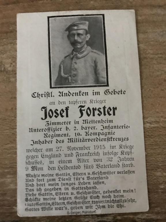Avis de décès soldat allemand 14-18  0c425e10