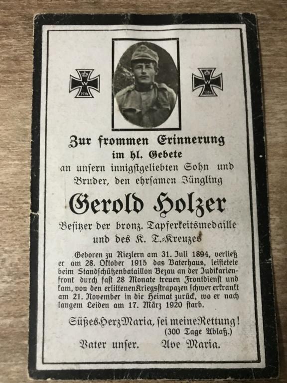 Avis de décès soldat allemand 14-18  100c7410