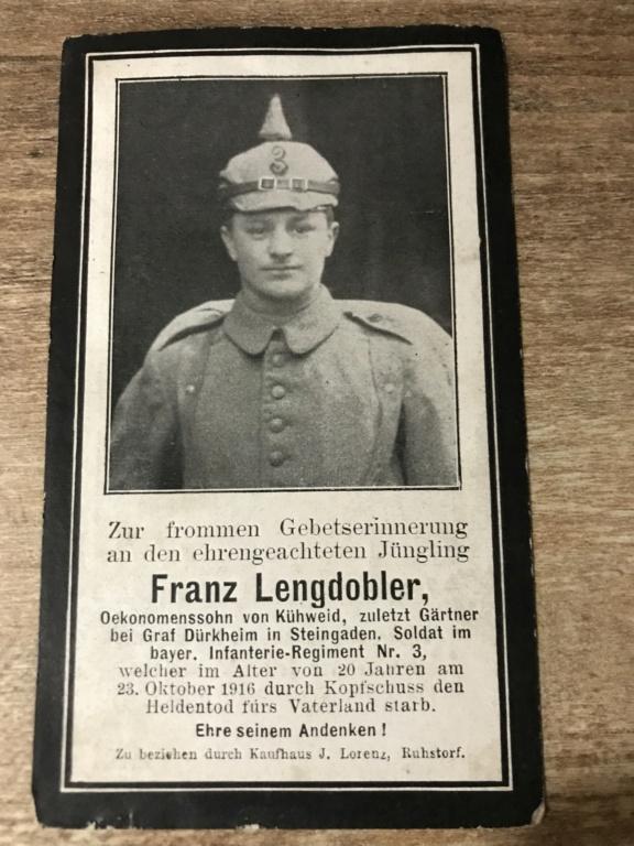 Avis de décès soldat allemand 14-18  219f7910