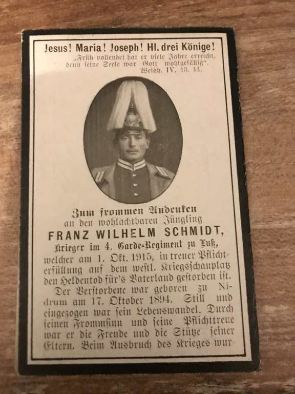 Avis de décès soldat allemand 14-18  635bc110