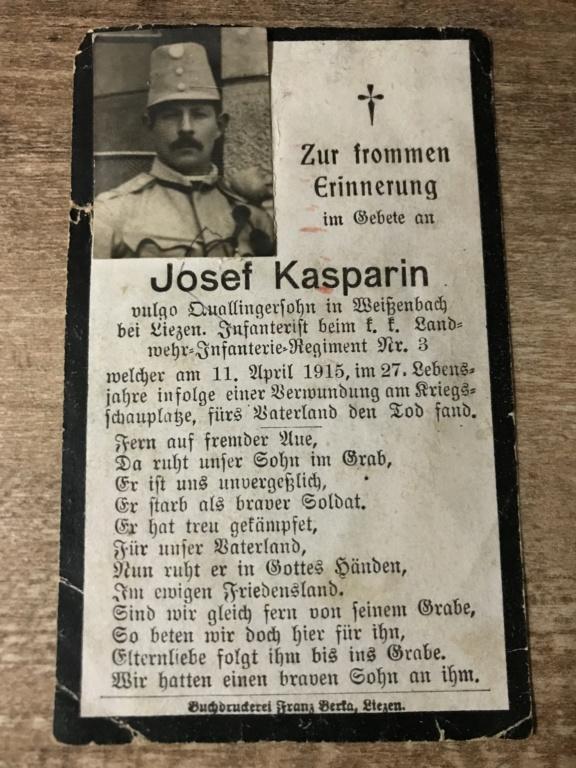 Avis de décès soldat allemand 14-18  6dca5010