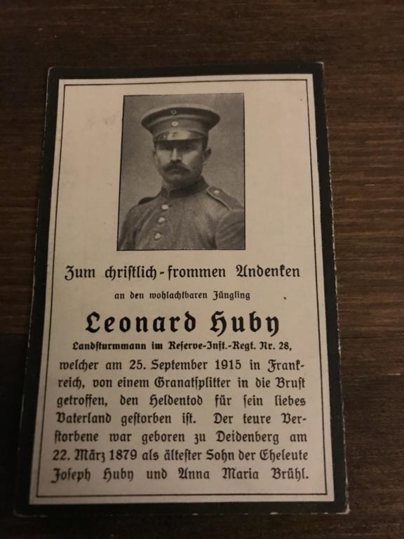 Avis de décès soldat allemand 14-18  - Page 2 7cfa3810