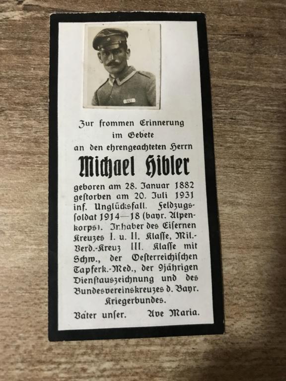 Avis de décès soldat allemand 14-18  8c896f10