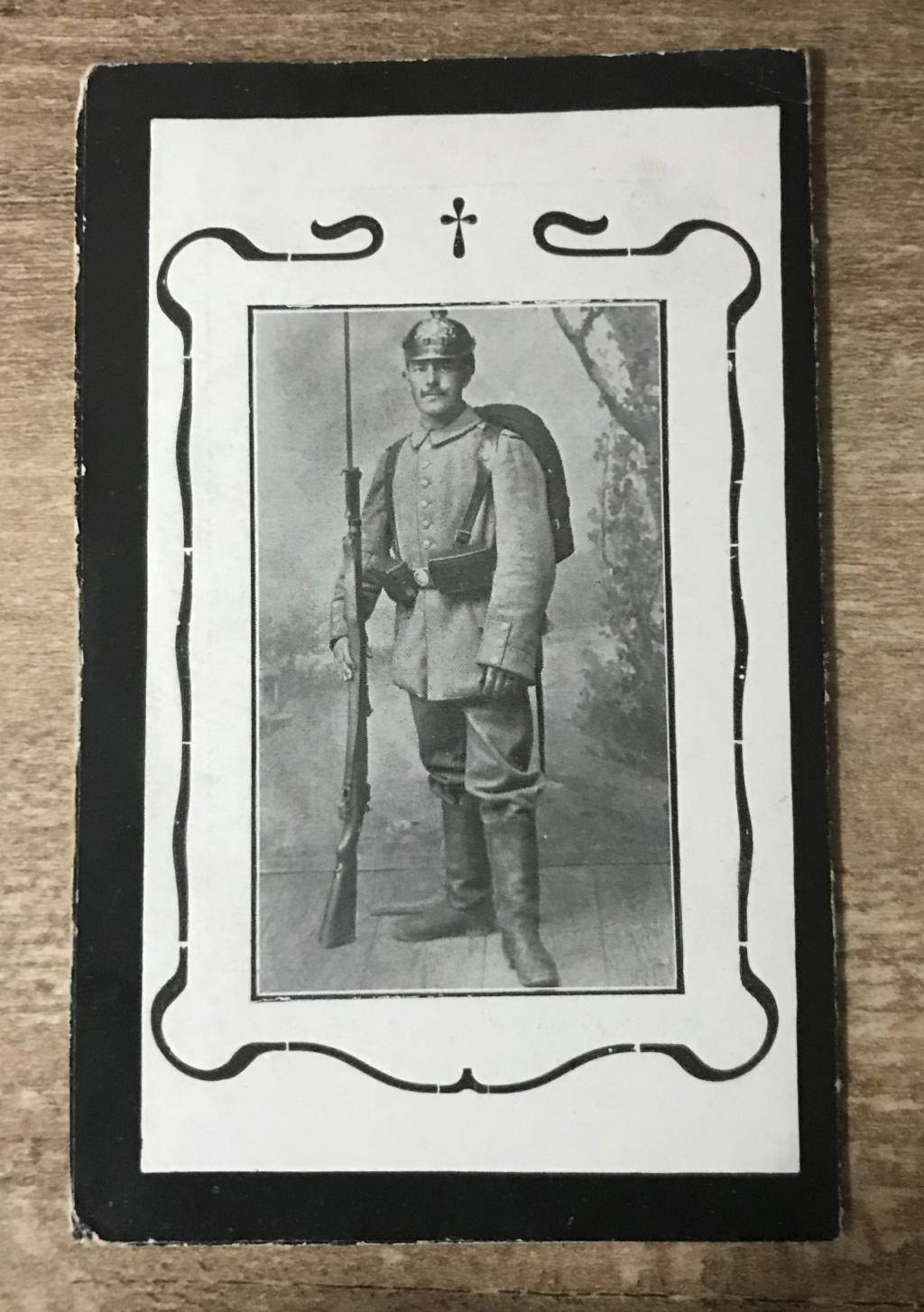 Avis de décès soldat allemand 14-18  - Page 2 9fc2ed10