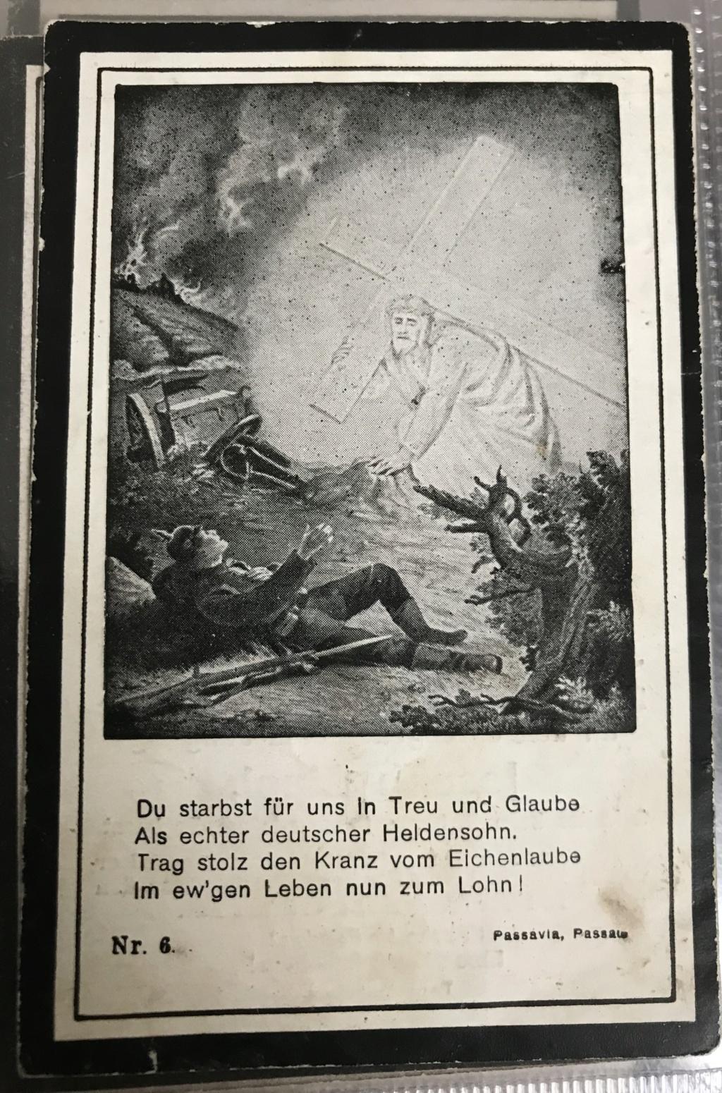 Avis de décès soldat allemand 14-18  - Page 2 A599bc10
