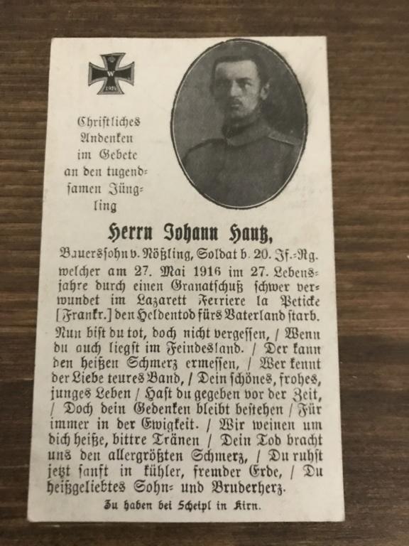 Avis de décès soldat allemand 14-18  - Page 2 D2b29110