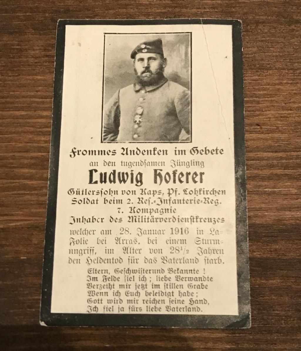 Avis de décès soldat allemand 14-18  - Page 2 E027b410