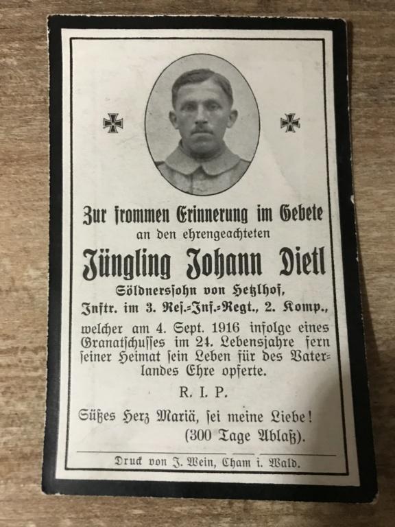 Avis de décès soldat allemand 14-18  Ef73a510