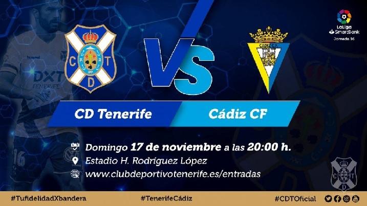[J16] C.D. Tenerife - Cádiz C.F. - Domingo 17/11/2019 21:00 h. #TenerifeCádiz Cartel13