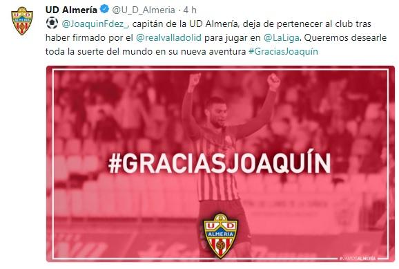 Altas y Bajas confirmadas Liga 1.2.3 Temporada 2018-2019 - Página 3 Joaqui10