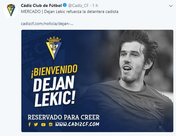Altas y Bajas confirmadas Liga 1.2.3 Temporada 2018-2019 - Página 3 Lekic10