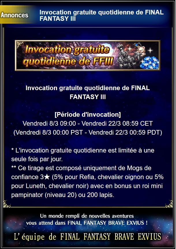 Invocation gratuite quotidienne - FFIII- du 08/03 au 22/03/19 Captu121