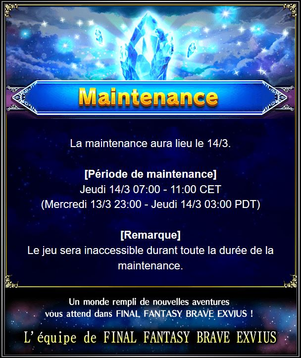 Maintenance 14/03 de 7H à 11H Captu123