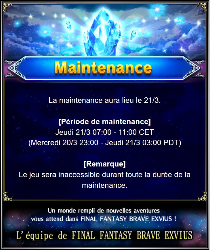 Maintenance 21/03 de 7H à 11H Captu126
