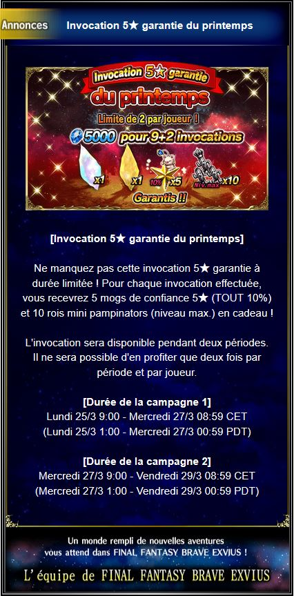 Invocation 5★ garantie du printemps - du 25/03 au 27/03 et du 27/03 au 29/03/19 Captu127