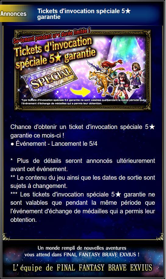 Tickets d'invocation spéciale 5★ garantie - à partir du 01/02/19 Captu133