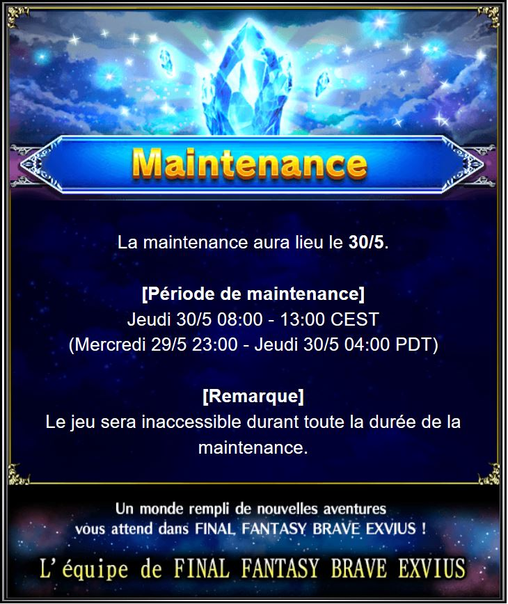 Maintenance 30/05/19 de 8H à 13H Captu153