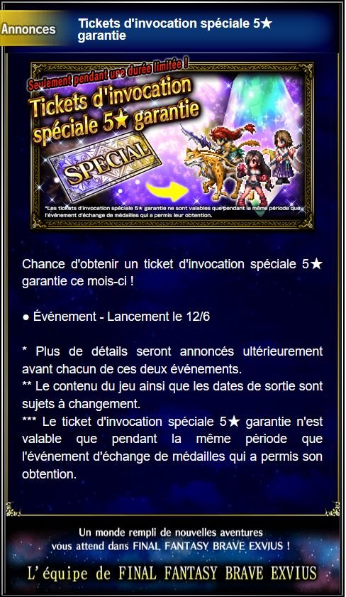 Tickets d'invocation spéciale 5★ garantie - à partir du 01/02/19 Captu158