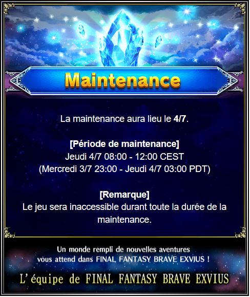 Maintenance 04/07/19 de 8H à 12H Captu167