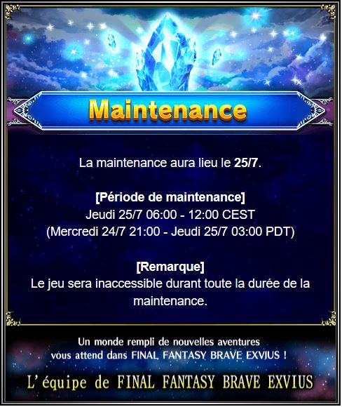 Maintenance 25/07/19 de 6H à 12H Captu176