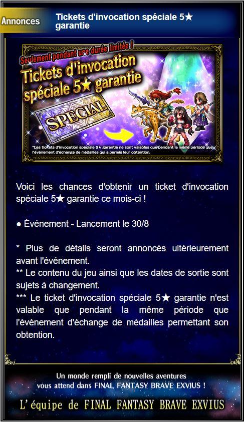 Tickets d'invocation spéciale 5★ garantie - à partir du 01/02/19 Captu184
