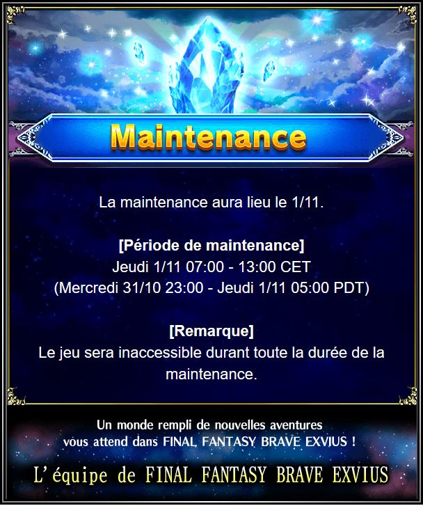 Maintenance 01/11 de 7H à 13H  Captur58