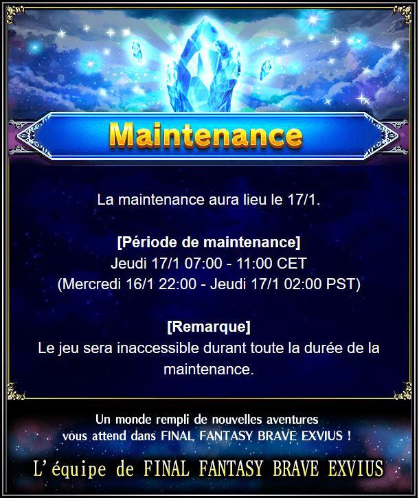 Maintenance 17/01 de 7H à 11H Captur85