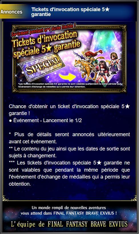 Tickets d'invocation spéciale 5★ garantie - à partir du 01/02/19 Captur94