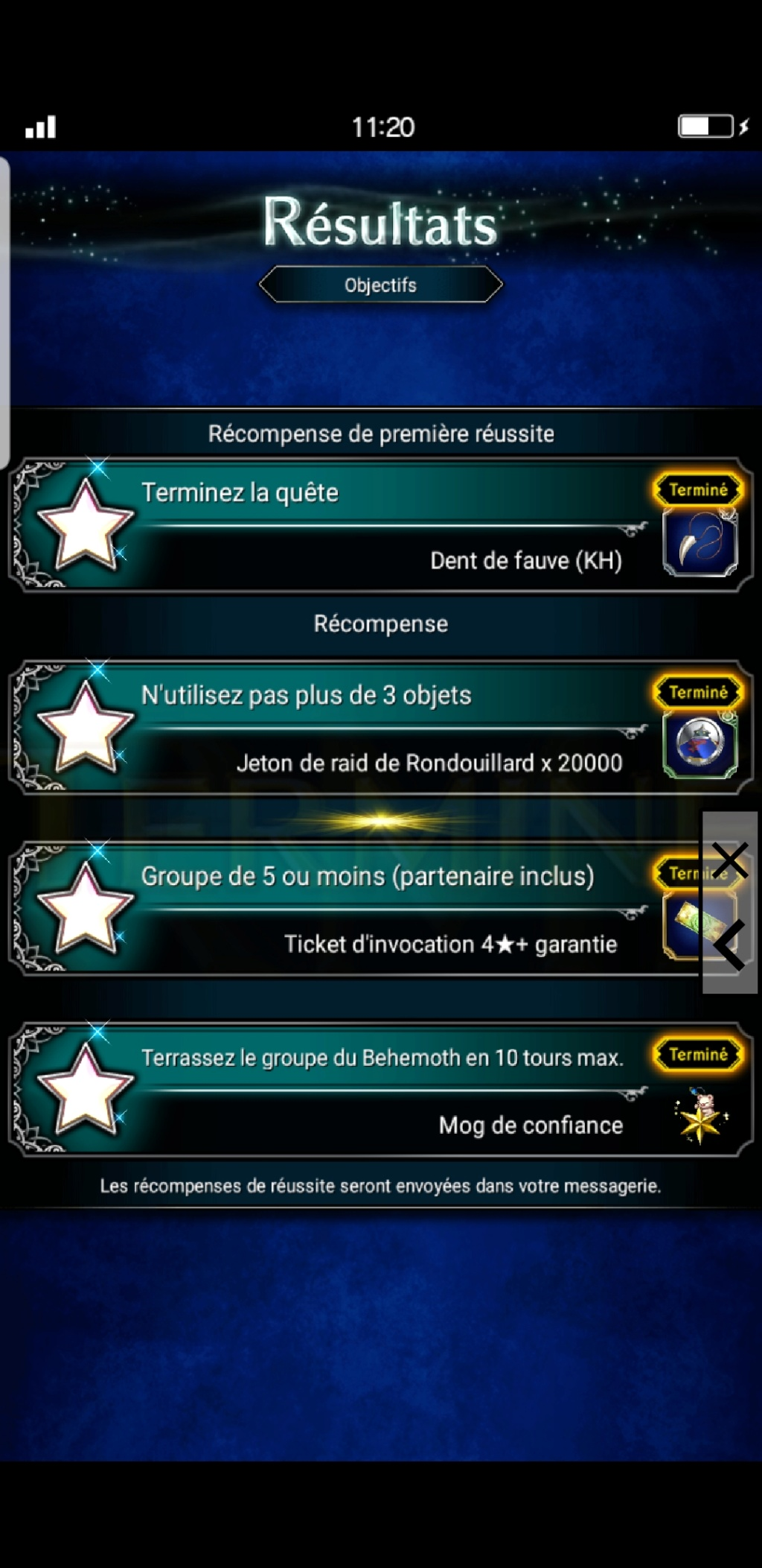 Trial de Raid - Collab KH - Sans-cœur : Behemoth - du 27/09 au 04/10/19 Scree390