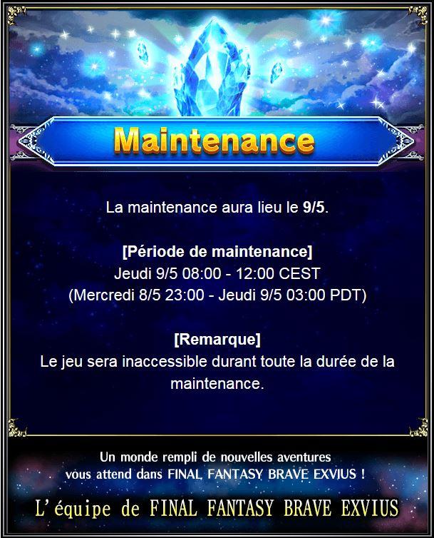 Maintenance 09/05/19 de 8H à 12H Temp10
