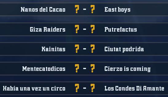 Campeonato Piel de Minotauro 8 - Grupo 2 / Jornada 6 - hasta el domingo 30 de marzo G212