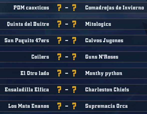 Liga Alianza Mixnotauro 4 - División Cuerno de Bronce / Jornada 3 - hasta el domingo 26 de enero J3bron11