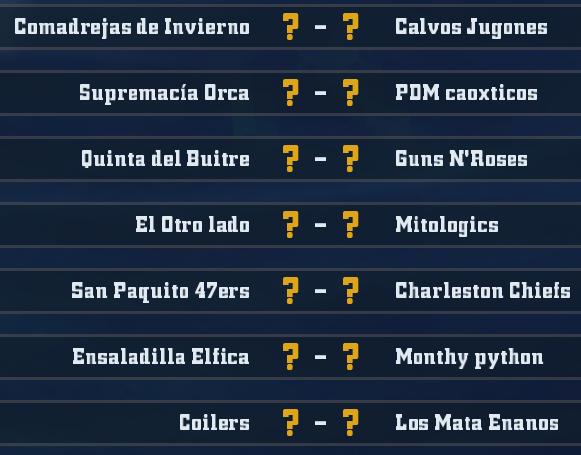 Liga Alianza Mixnotauro 4 - División Cuerno de Bronce / Jornada 5 - hasta el domingo 23 de febrero J5bron11