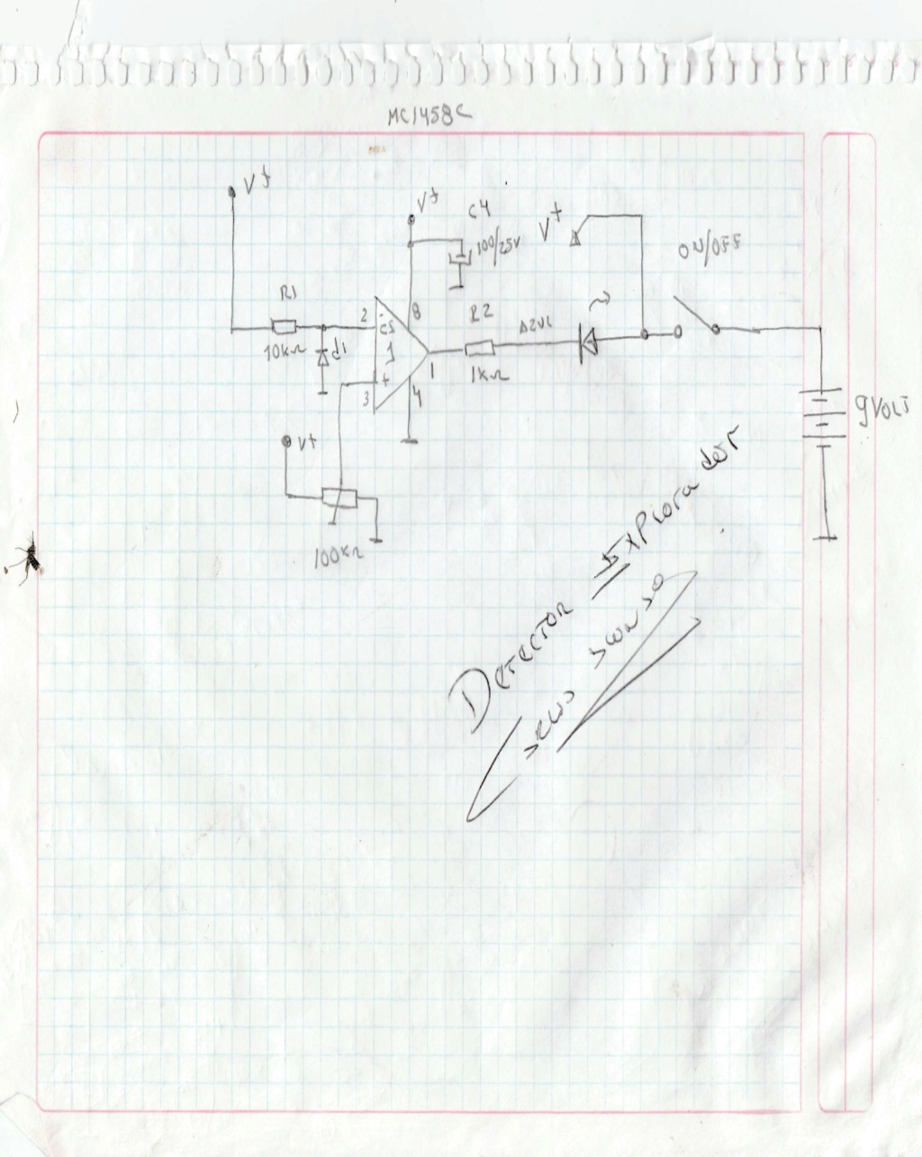 les COMPARTO DIAGRAMA DEL DETECTOR EXPLORADOR Detect11