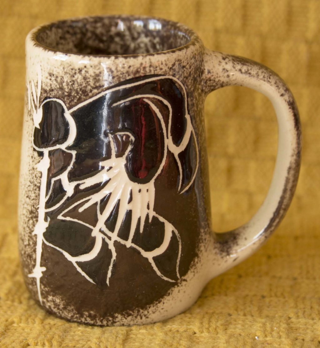 Very stylised design on a mug - Johannesburg Bcup1a10
