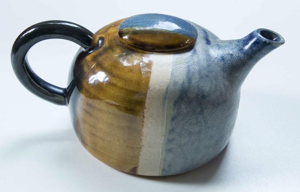 A Colourful Tea Pot Blue-y11