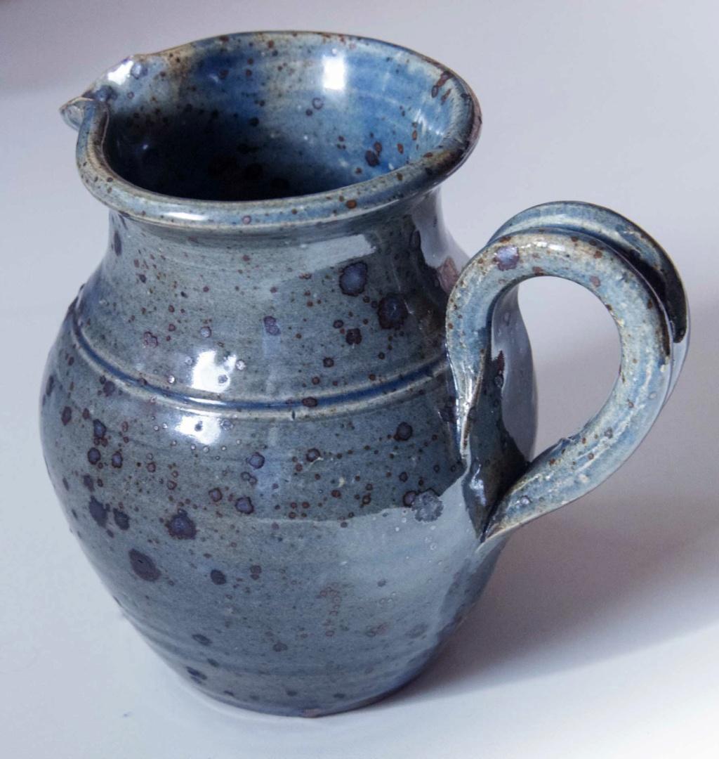 Lovely blue jug with signature - Guy Baudat, France  Blue_j10