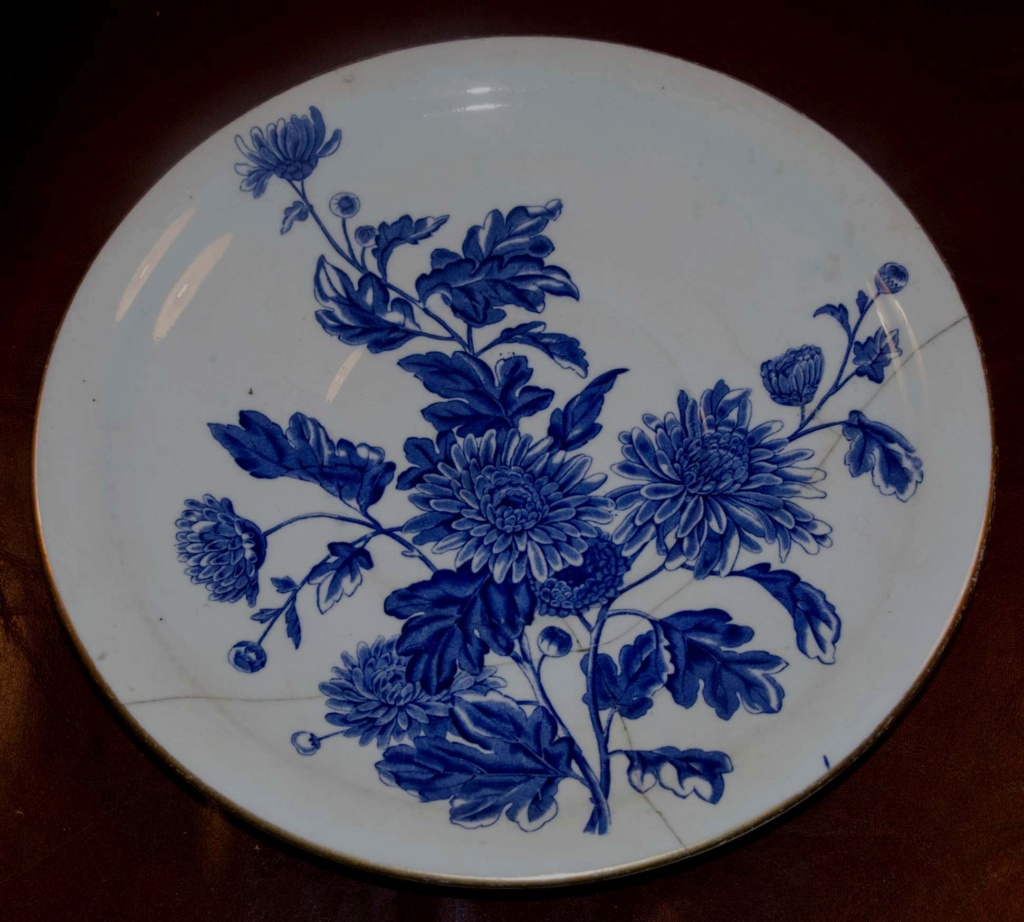 Lovely (damaged) Blue & White Plate - Royal Worcester  Bw_pla10