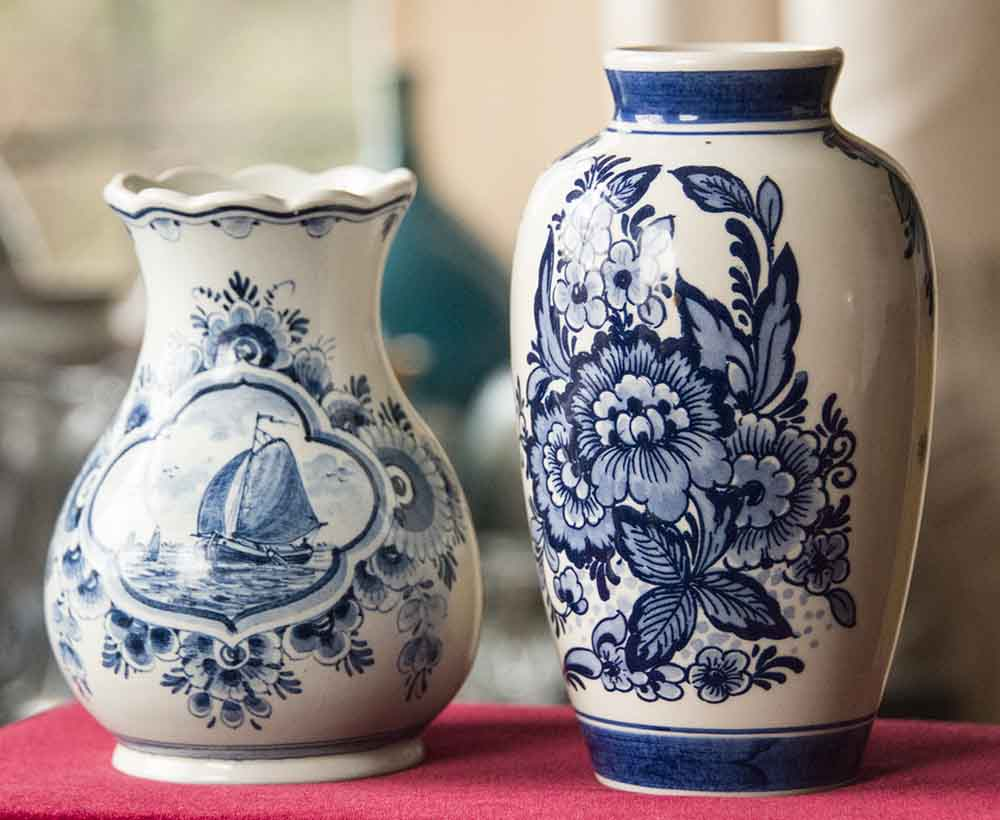 Two Delft vases, but not sure of markings Dutch111
