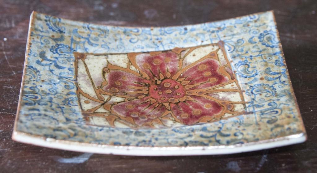 Slab Pottery dish, EM mark = Eva & Franz Ruppert Muellbauer Em_1a10