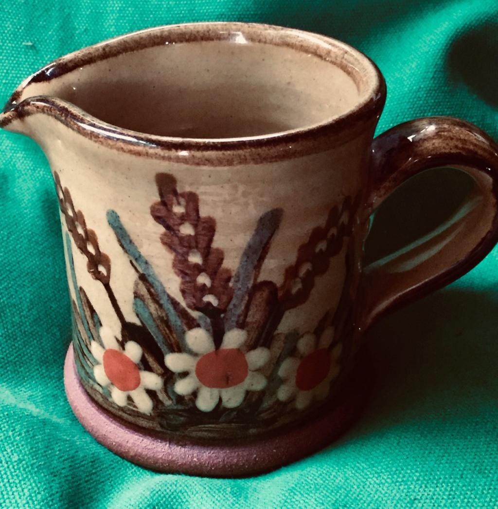 Flowery Jug, -  Alan & Ann Frewin Millhouse pottery Harleston, Norfolk. Flower17