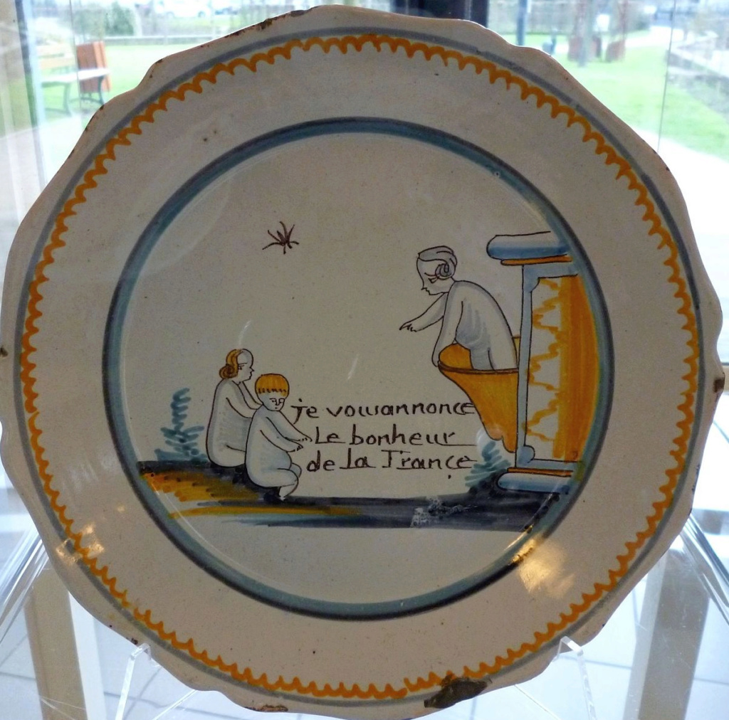 Interesting French Plate - does anybody recognise? Nevers11