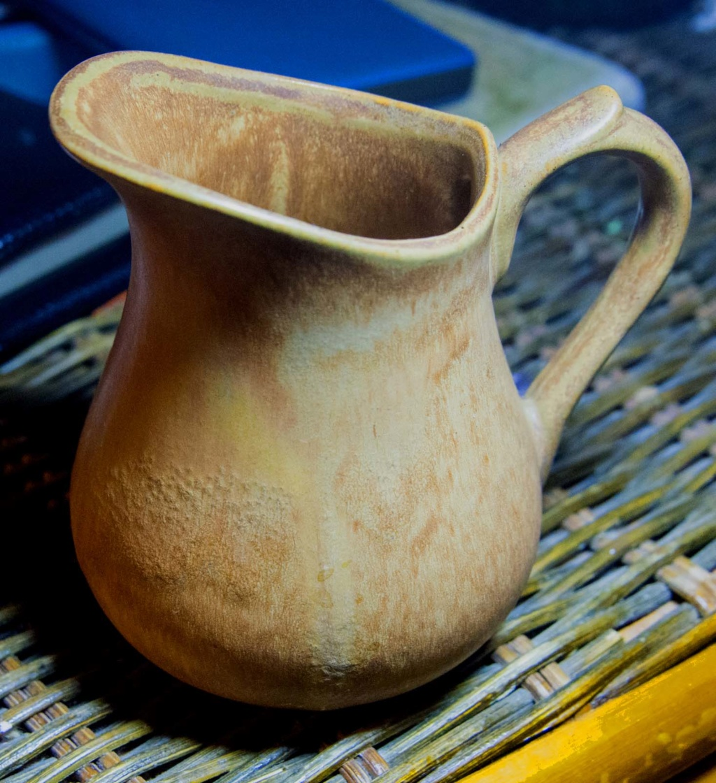 Plain Brown/Yellow Jug - Maked with a stylish '2' Smark_11
