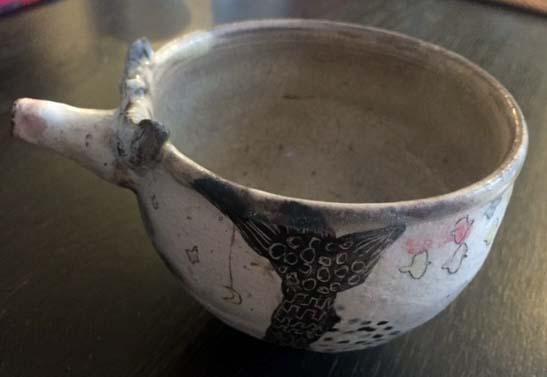 A wonderfully strange, handled (soup) bowl! V_po1_13