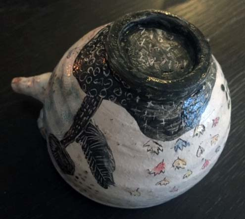 A wonderfully strange, handled (soup) bowl! V_po1_14