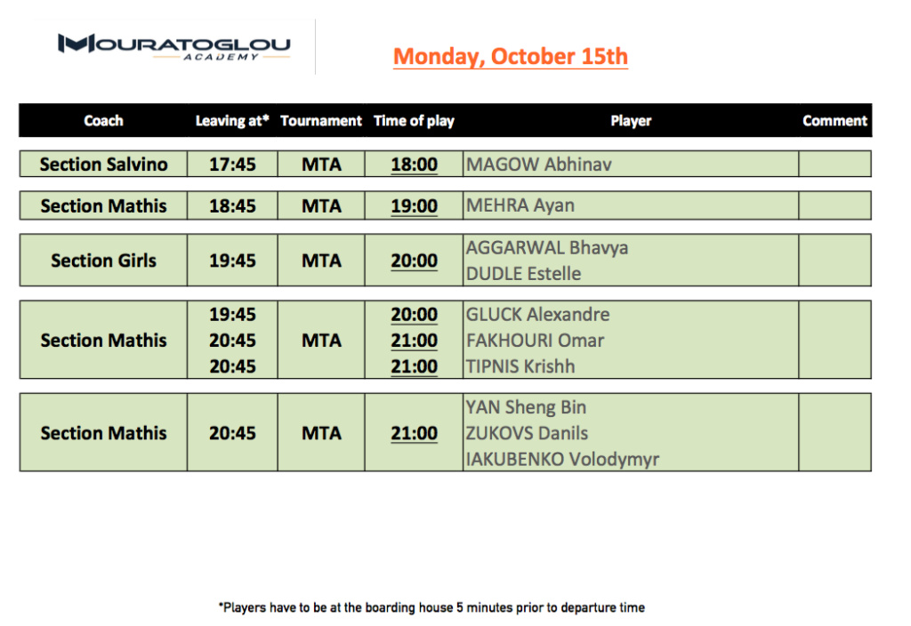 Monday, October 15th 151010